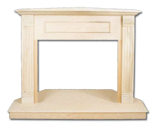 Comfort Flame C26Tu Traditional Design Unfinished Fireplace Corner Mantel, 26-Inch