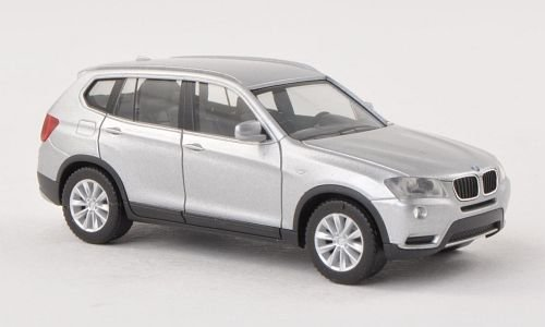 BMW-X3-F25-silber-Modellauto-Fertigmodell-Herpa-187