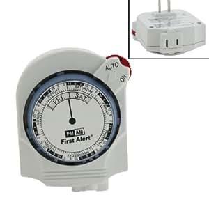 First Alert TM260 Random On/off 7-day Mechanical Timer, White