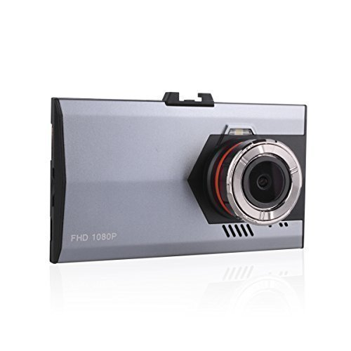 EMY Car DVR Ultra Thin 1080P Full HD 1920x1080 Dash Cam Camcorder with Night Vision G Sensor 170° Wide Angle 3.0'' LCD