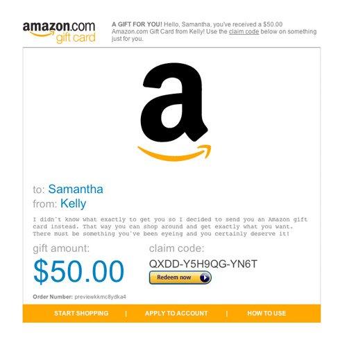 Amazon gift e gift card
