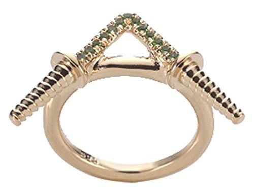Noritamy Tsavorite Stones Toolbox Ring - Size K