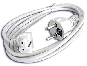 Cordon électrique secteur câble d'alimentation rallonge pour adaptateurs secteurs Apple iPHONE 2G 3G iPOD MacBook Air