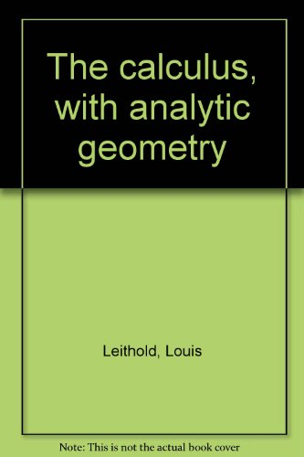 The calculus, with analytic geometry PDF