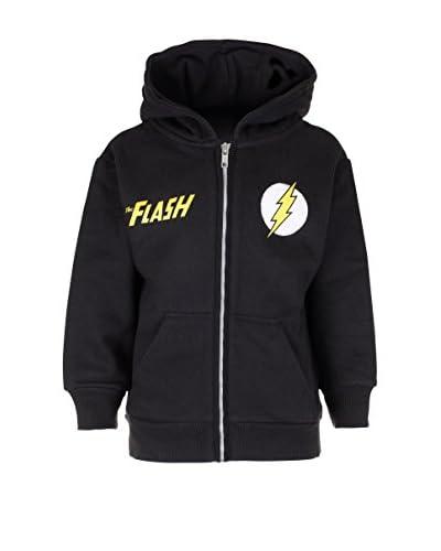DC Comics Sudadera con Cierre Flash Distress Logo