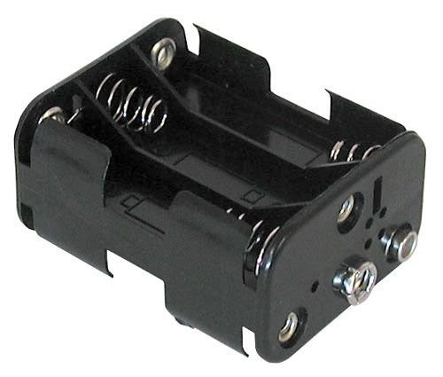 Philmore Battery Holder for (6) AA with Standard Snap Connector : BH363