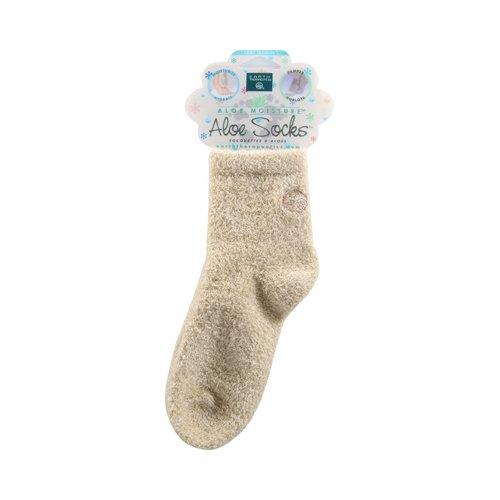 Earth Therapeutics Aloe Infused Socks Cream 1 Pair