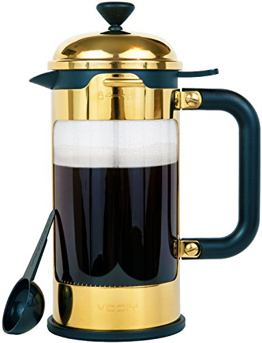 Buy French Coffee Press - 8 Cup/4 Mug Stainless Steel Coffee & Tea Maker. 1 Liter | 34 Oz Coffee and...