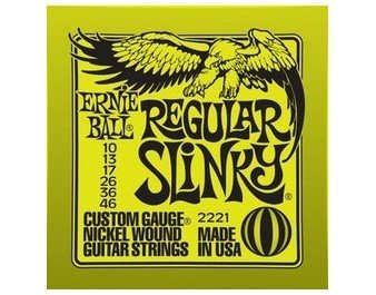 Ernie Ball 2221 Regular Slinky Electric Guitar Strings 10-46