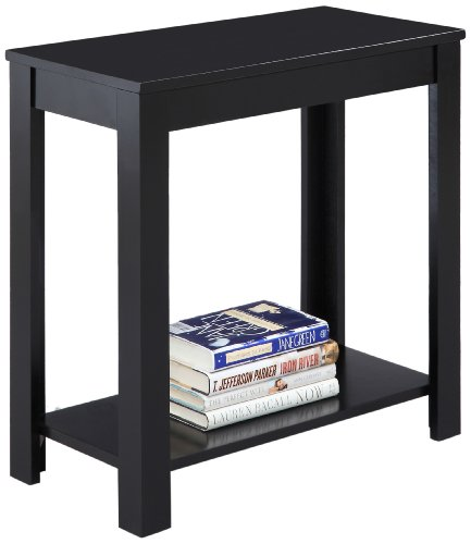 Crown Mark Pierce Side Table, Black (Rectangle End Table compare prices)