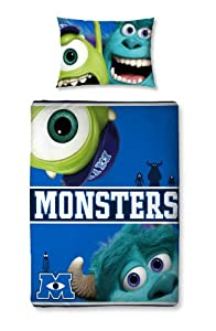 Character World 125 x 150 cm Disney Monsters University Junior Panel Duvet Set, Multi-Color