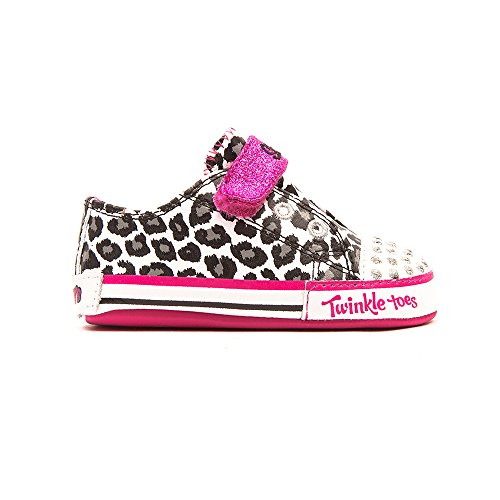 Skechers Infant/Toddler Girls' Twinkle Toes Baby Sparks Critter Pawz,White,Us 2 front-276621