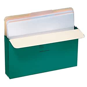 "Wilson Jones Colorlife Recycled (50%) Expanding File Pockets, Letter Size, 3-1/2"" Expansion, Green, 25/box, WCC64G"