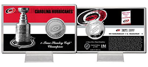 "NHL Carolina Hurricanes Stanley Cup ""History"" Silver Coin Card"