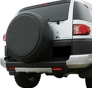 2007-2009 Toyota FJ Cruiser – 32″ Rigid Tire Cover (Plastic Face & Vinyl Band) – Matte Black Texture