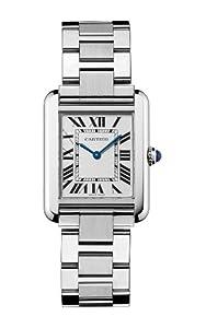 """Cartier Women's W5200013 """"Tank Solo"""" Stainless Steel Dress Watch"""