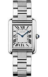 "Cartier Women's W5200013 ""Tank Solo"" Stainless Steel Dress Watch"