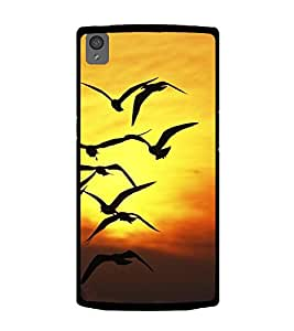 Birds flying at Dusk 2D Hard Polycarbonate Designer Back Case Cover for OnePlus X :: One Plus X :: One+X