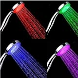 Faucetland 004002340 7 Color LED Lights Shower Head Bathroom Showerheads