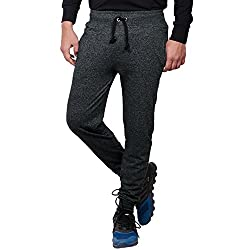 Thread Swag Men's Track Pants (TS102black-M_Medium_Black)