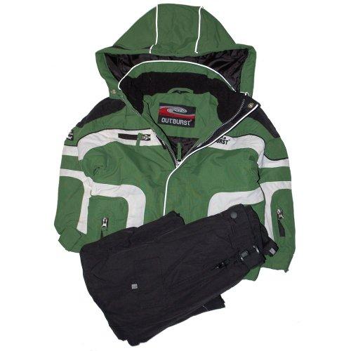 Outburst - ski-suit, snow jacket + pants, boys, green