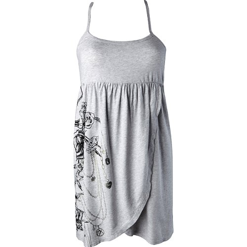 Fox Racing Luxe Girls Casual Wear Dress - Color: Heather Grey, Size: X-Small