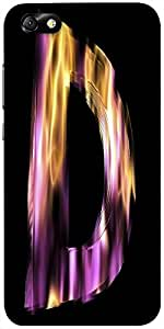 Snoogg Flaming 3D Letter Designer Protective Back Case Cover For Huawei Honor 4X