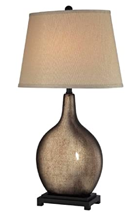 Lite Source LS-21962 Table Lamp with Beige Fabric Shades, Gold Finish