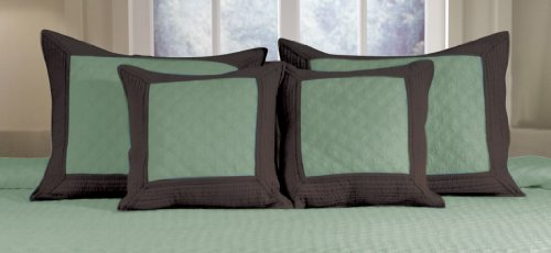 Greenland Home Brentwood Decorative Pillow Pair, Blue Surf/Espresso front-323663