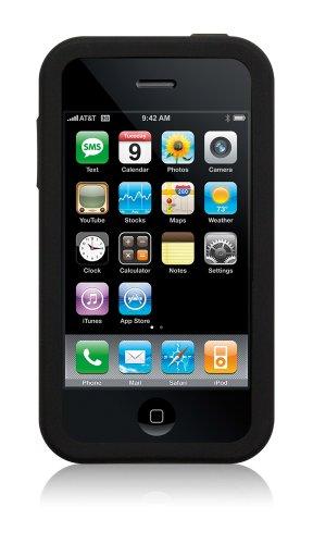 Simplism Silicone Case for iPhone Black [iPhone用シリコンケース ブラック] ストラップホール付き TR-SCIP-BK