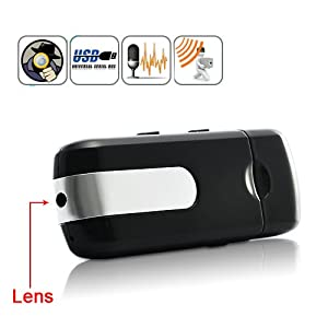 Shopinnov Camera espion Cle USB 8Go avec detection de mouvement