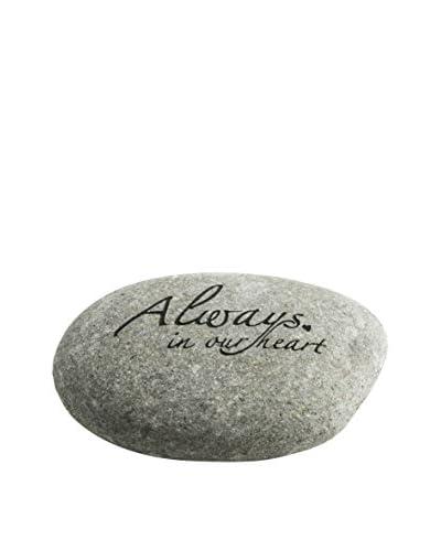 """My Spirit Garden """"Always In Our Heart..."""" Messenger Stone, Natural"""