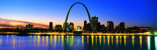 Panoramic Wall Decals - St Louis Skyline 2 (4 Foot Wide Removable Graphic) front-977849