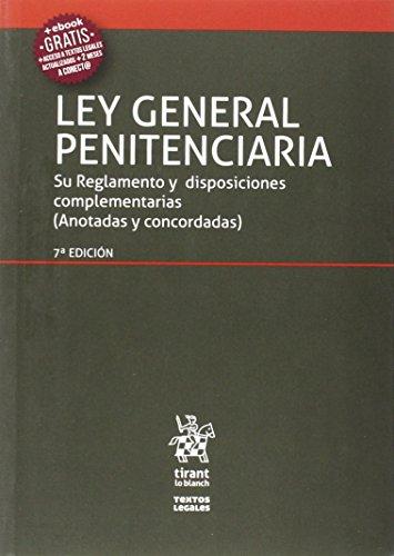 Ley General Penitenciaria 7ª Edición 2016 (Textos Legales)