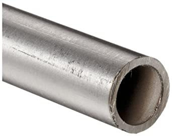"Stainless Steel 304L Seamless Round Tubing, 1/8"" OD, 0.069"" ID, 0.028"" Wall, 72"" Length"