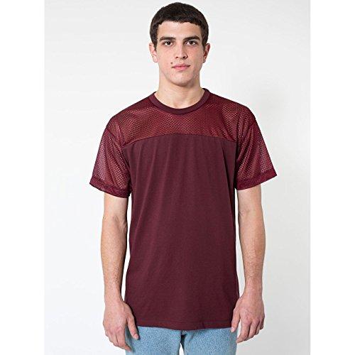 American Apparel - Maglietta a Maniche Corte con Sprone - Uomo (XL) (Vino)
