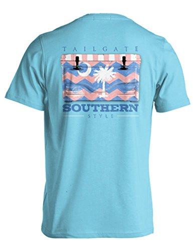 College Tailgate - Preppy Palmetto - Chevron Cooler - Medium - T-Shirt front-244113