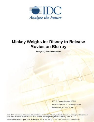 Mickey Weighs in: Disney to Release Movies on Blu-ray