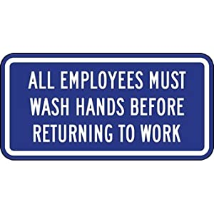 employees wash hands sign - photo #19