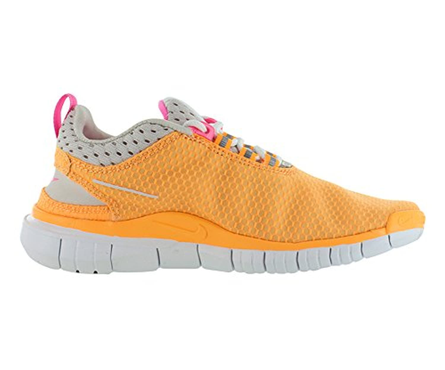 ... Nike Womens Free OG '14 BR Running Shoes Atomic Mango/Metallic Silver/ Pink ...