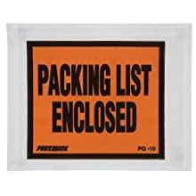"Duck Brand Clear View Packing List Envelopes, 5.5"" x 4.5"", 500-Count, (393743)"