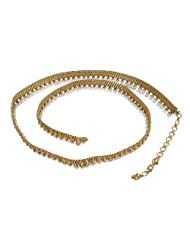 South Indian Style Pearl Beads Made Gold Plated Polki Belt For Girls & Women