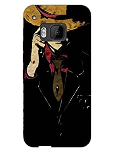 Manhattan - Man With Hat - Hard Back Case Cover for HTC One M9 - Superior Matte Finish - HD Printed Cases and Covers