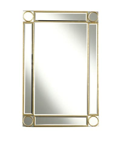 Audrey Mirror Accented Rectangular Mirror, Gold Leaf, 24″ x 36″