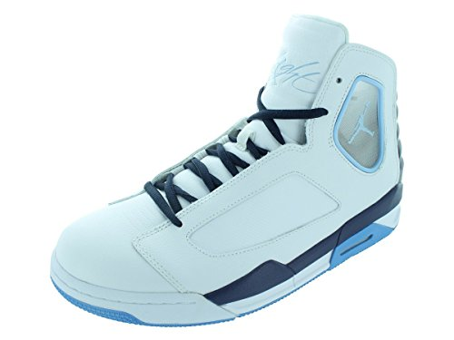 Nike Men's NIKE JORDAN FLIGHT LUMINARY BASKETBALL SHOES 9.5 Men US (WHITE/IC BL/MID NVY/UNVRSTY BL) (Jordan 2013 Shoes compare prices)