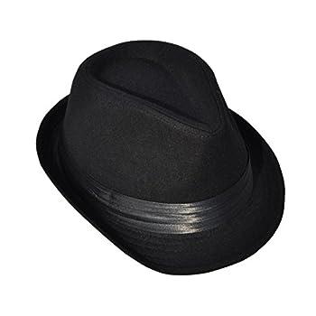 Simplicity Men Women Manhattan Structured Gangster Trilby Wool Fedora Hat