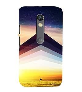 PrintVisa Symmetrical Sunrise Pattern 3D Hard Polycarbonate Designer Back Case Cover for Motorola Moto X Play