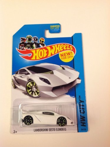 2014 Hot Wheels Hw City - Lamborghini Sesto Elemento - White - 1