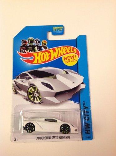 2014 Hot Wheels Hw City - Lamborghini Sesto Elemento - White - 1