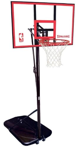 Spalding 72351 Portable Basketball System with 44-Inch Polycarbonate Backboard